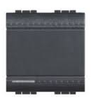 Intrerupator basculant  cap-scara, 16A living  light, 2 module, antracit, BTICINO