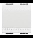 Intrerupator basculant cu buton de revenire, 10A , 2 module, alb, BTICINO