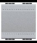 Intrerupator basculant cu buton de revenire, 10A , 2 module, tech, BTICINO