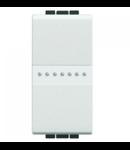 Intrerupator axial, simplu, 16A, living light, 1 modul, alb, BTICINO