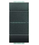 Intrerupator cruce axial , borne cu automate,16A, living light, 1 modul, antracit, BTICINO