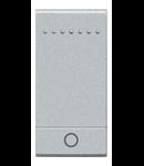 Tasta cu 1 functiune, pentru intrerupator basculant, cu  difuzor si pictograma luminoasa, living light, 1 modul, tech, BTICINO