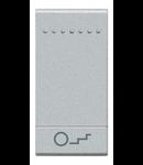 Tasta cu 1 functiune, pentru intrerupator basculant, cu  difuzor si pictograma luminoasa pentru scari, living light, 1 modul, alb, BTICINO