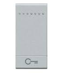 Tasta cu 1 functiune, pentru intrerupator basculant, cu  difuzor si pictograma ,,cheie,, living light, 1 modul, alb, BTICINO