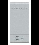 Tasta cu 1 functiune, pentru intrerupator basculant, cu  difuzor si pictograma ,,cheie,, living light, 1 modul, tech, BTICINO