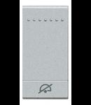 Tasta cu 1 functiune, pentru intrerupator basculant, cu  difuzor si pictograma ,,NU DERANJATI,, living light, 1 modul, alb, BTICINO