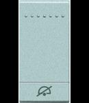 Tasta cu 1 functiune, pentru intrerupator basculant, cu  difuzor si pictograma ,,NU DERANJATI,, living light, 1 modul, tech, BTICINO
