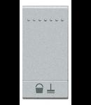 Tasta cu 1 functiune, pentru intrerupator basculant, cu  difuzor si pictograma ,,CURATATI CAMERA,, living light, 1 modul, alb, BTICINO