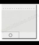 Tasta cu 1 functiune, pentru intrerupator basculant, cu  difuzor si pictograma luminoasa, living light, 2 module, alb, BTICINO