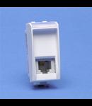 Priza  Telefon RJ11, living light, 1 modul , alb, BTICINO