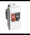 Conector Audio-Video, pentru boxe, living light, 1 modul , alb, BTICINO