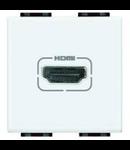Conector Audio-Video, mufa HDMI, living light, 1 modul , alb, BTICINO