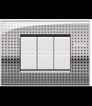Placa ornament ,3 module, decor net, living light, BTICINO
