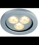 Spot EYEDOWN LED 3x1W LED, lumina rece