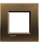 PLACA ORNAMENT, 2 MODULE, BRONZ, LIVING LIGHT, BTICINO
