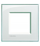 PLACA ORNAMENT, 2 MODULE, AQUAMARINE, LIVING LIGHT, BTICINO