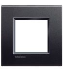 PLACA ORNAMENT, 2 MODULE, ANTRACIT, LIVING LIGHT, BTICINO