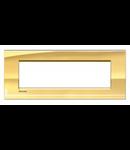 Placa ornament ,7 module, auriu, living light, BTICINO