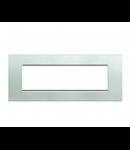 Placa ornament ,7 module, argintiu, living light, BTICINO