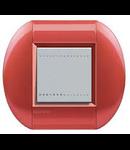 Placa ornament ,2 module, rosu aprins, living light, BTICINO
