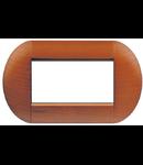 Placa ornament ,4 module, cires american,  living light, BTICINO