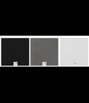 Grila de metal cu suruburi, pentru difuzor, negru, TUTONDO