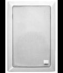 Difuzor dreptunghiular acustic pentru instalarea in perete, EN54-24, alb, TUTONDO