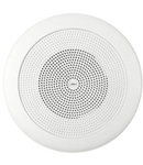 Difuzor rotund acustic pentru montaj incastrat, in tavane false, 1-cale 10W, 80 ohm, alb, TUTONDO