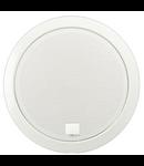 Difuzor rotund acustic, carcasa metal rotunda incastrata in tavan,1-mod cu 100V transf., 10-5-2,5 W ?i de 80 ohm, alb , TUTONDO