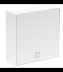 Difuzor aparent, corp principal  pe perete, 2-cai, 100V 24-16-6W, 84dB 1W/1m, alb, TUTONDO