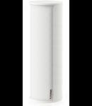Difuzor compact, de forma cilindrica, instalare pe perete sau raft, 100V transformator prize 46-24-12W, SPL ,max 100 dB, 83,4 dB 1W/1m, alb, TUTONDO
