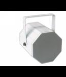 Difuzor acustic bidirectional, 1-cale, 2 difuzoare active, 100 V transf.,12W, IP54, alb, TUTONDO