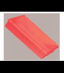 Box in perete incastrat, structura ABS V0, forma dreptunghiulara, de culoare rosie, TUTONDO
