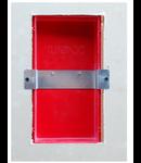 Box  pentru pereti de gips-carton, structura ABS V0, forma dreptunghiulara, de culoare rosie, TUTONDO