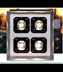 Proiector antiex cu LED-uri, 436 x 430 x 265 mm, 157W, policarbonat / lentila tip A, ELECTROMAGNETICA