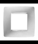 Placa ornament 2+2m Alb orizontal