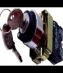 Selector cu cheie 1 REV-0-2 REV (selector+ etrier+2ND), negru