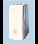 Intrerupator modular simplu+LED, alb 1002, STIL