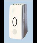 Intrerupator modular cu revenire+LED, alb 1010, STIL