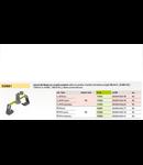 Suport coama ajustabil inox/PVC cond. 8 mm