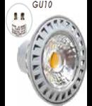 SPOT CU LED - 6W GU10 ??? plastic alb cald , MODEL VT-1860