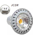 SPOT CU LED - 6W JCDR 230V ??? plastic alb 4500K, MODEL VT-1869