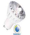 LED Spotlight -  7W GU10 ??? Chip alb cald Estompat VT-2999D