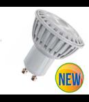 LED Spotlight - 5W GU10 Plastic - alb cald  VT-1878