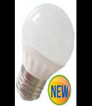 Bec cu LED-uri - 6W E27 G45 alb, VT-1879