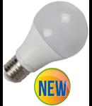 Bec cu LED-uri - 9W E27 A60 termoplastic lumina alb cald 2700k , VT-2099, 906 lumeni