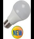Bec cu LED-uri - 12W E27 A60 termoplastic alb rece 6000K, VT-1864