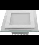 Panel LED spot din sticla, patrat  alb - 18W, VT- 1802 G