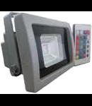 LED Proiector 50W V-TAC Clasic, PREMIUM Reflector RGB cu telecomanda radio, VT-4750RGB