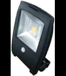 LED Proiector 50W V-TAC Design Senzor , corp grafit, alb, VT-4450PIR